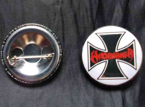 Witchburner - Iron Cross Button