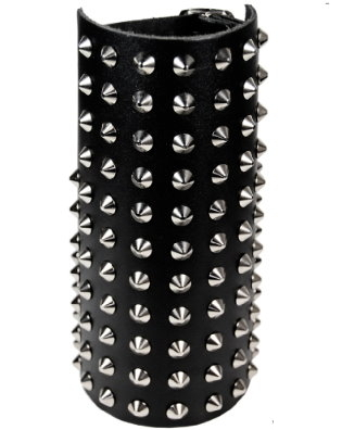 11-row studded-Leather Gauntlet (spitz)