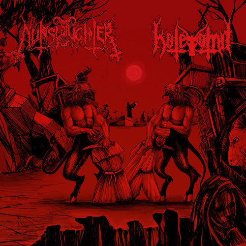 "Hatevomit/Nunslaughter - Split 7""EP"